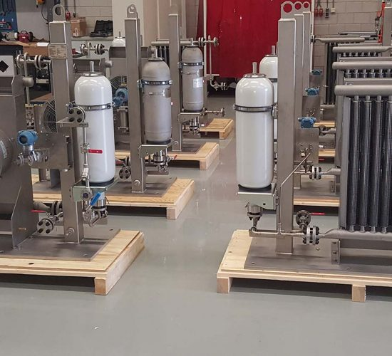 skids for Oil & Gas with cooling and accumulators