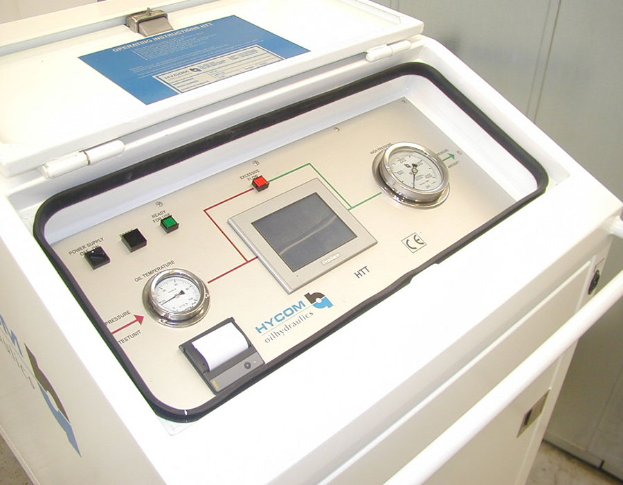 Control panel of the internal leakage tester HTT