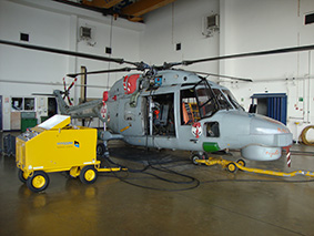 Hydraulic Ground Support Equipment for aircraft maintenance of a militairy helicopter