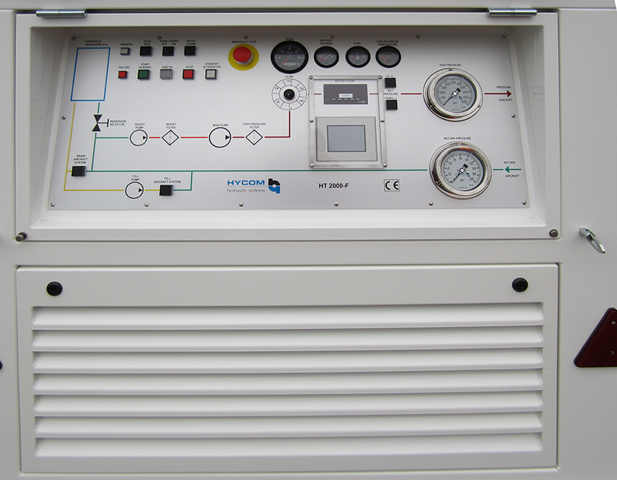 Control panel of Hycom HT unit