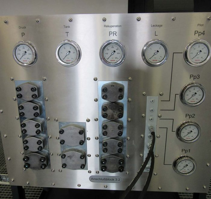 Operating panel Multipurpose test rig