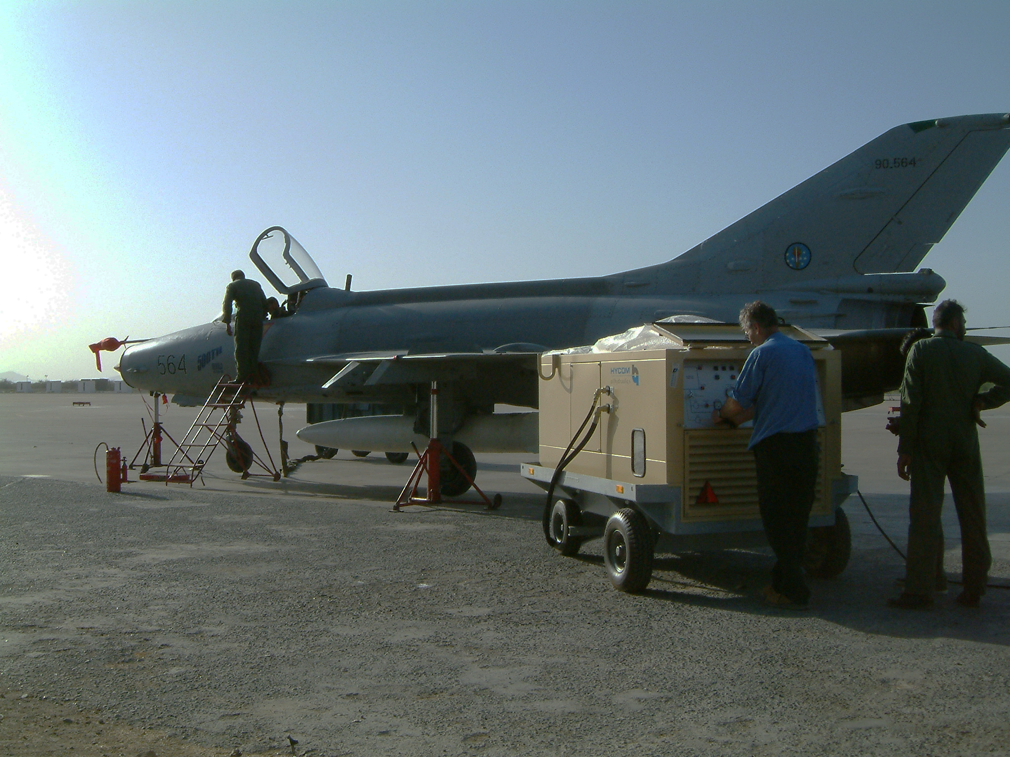 Fighter jet maintenance with Hycom HGPU
