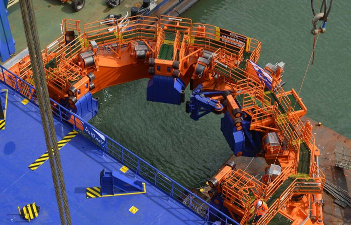 Hydraulics for a monopile gripper used for Offshore Wind