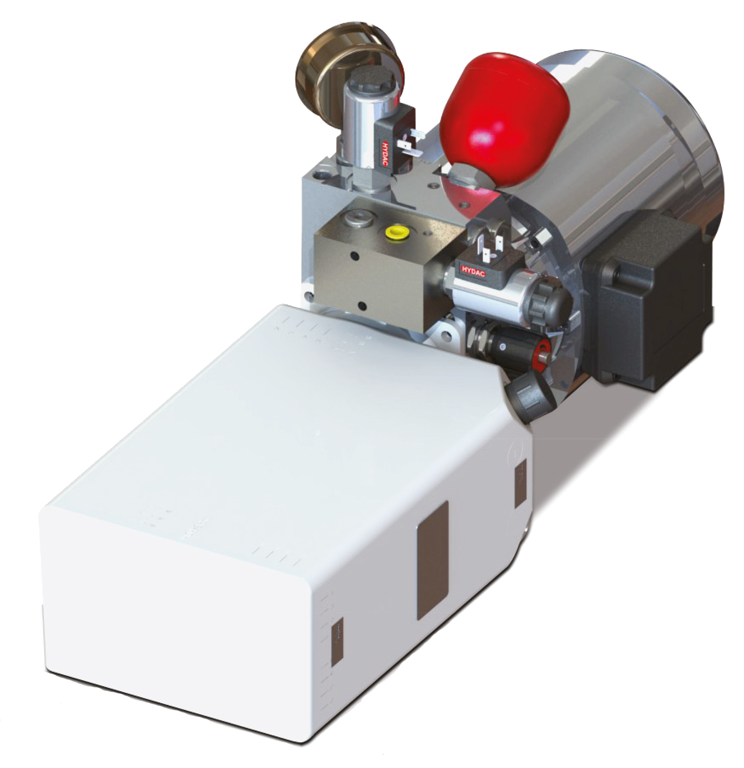 Compact hydraulic power unit